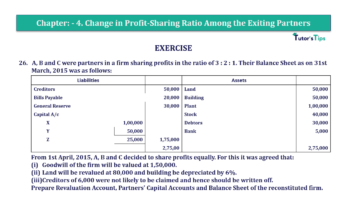 Question No.26 Chapter No.4 T.S. Grewal 2 Book 2019 Solution min min 360x202 - Chapter No. 4 – Change in Profit-Sharing Ratio Among the Existing Partners - Solution