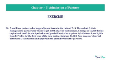Question No.26 Chapter No.5 T.S. Grewal 2 Book 2019 Solution min min 360x202 - Chapter No. 5 - Admission of a Partner - Solution - Class 12