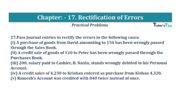 Question No.27 Chapter No.17 T.S. Grewal 1 Book 2019 Solution min min 360x202 - Chapter No. 17 - Rectification of Errors- Solution