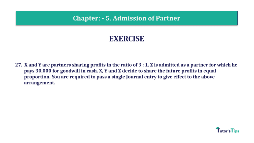 Question 27 Chapter 5 of +2-A