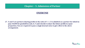 Question No.27 Chapter No.5 T.S. Grewal 2 Book 2019 Solution min min 360x202 - Chapter No. 5 - Admission of a Partner - Solution - Class 12