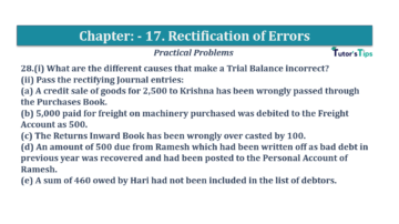 Question No.28 Chapter No.17 T.S. Grewal 1 Book 2019 Solution min min 360x202 - Chapter No. 17 - Rectification of Errors- Solution