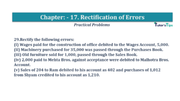 Question No.29 Chapter No.17 T.S. Grewal 1 Book 2019 Solution min min 360x202 - Chapter No. 17 - Rectification of Errors- Solution