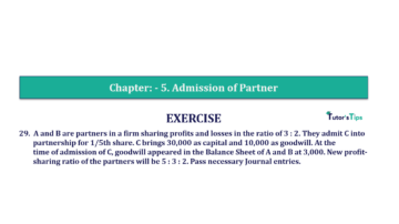 Question No.29 Chapter No.5 T.S. Grewal 2 Book 2019 Solution min min 360x202 - Chapter No. 5 - Admission of a Partner - Solution - Class 12