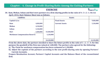 Question No.30 Chapter No.4 T.S. Grewal 2 Book 2019 Solution min min 1 360x202 - Chapter No. 4 – Change in Profit-Sharing Ratio Among the Existing Partners - Solution
