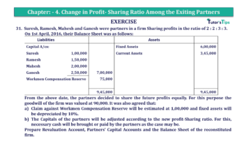 Question No.31 Chapter No.4 T.S. Grewal 2 Book 2019 Solution min min 360x202 - Chapter No. 4 – Change in Profit-Sharing Ratio Among the Existing Partners - Solution