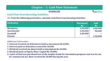 Question No.31 Chapter No.5 T.S. Grewal 2 Book 2019 Solution min min 1 360x202 - Chapter No. 5 - Cash Flow Statement - Solution - Class 12