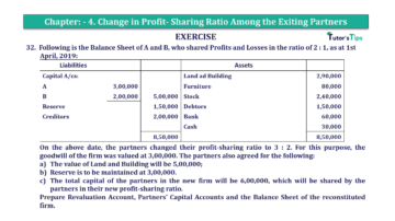 Question No.32 Chapter No.4 T.S. Grewal 2 Book 2019 Solution min min 360x202 - Chapter No. 4 – Change in Profit-Sharing Ratio Among the Existing Partners - Solution