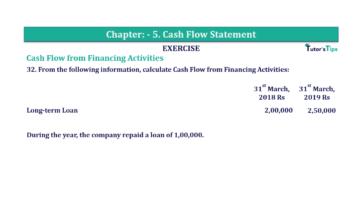 Question No.32 Chapter No.5 T.S. Grewal 2 Book 2019 Solution min min 1 360x202 - Chapter No. 5 - Cash Flow Statement - Solution - Class 12