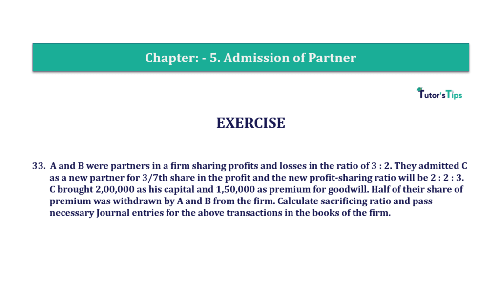 Question 33 Chapter 5of +2-A