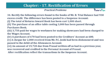 Question No.34 Chapter No.17 T.S. Grewal 1 Book 2019 Solution min min 360x202 - Chapter No. 17 - Rectification of Errors- Solution