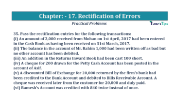 Question No.35 Chapter No.17 T.S. Grewal 1 Book 2019 Solution min min 360x202 - Chapter No. 17 - Rectification of Errors- Solution
