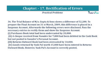 Question No.36 Chapter No.17 T.S. Grewal 1 Book 2019 Solution min min 360x202 - Chapter No. 17 - Rectification of Errors- Solution