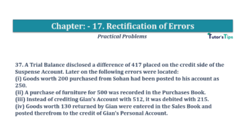 Question No.37 Chapter No.17 T.S. Grewal 1 Book 2019 Solution min min 360x202 - Chapter No. 17 - Rectification of Errors- Solution