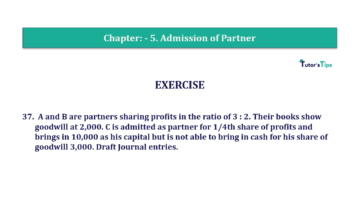 Question No.37 Chapter No.5 T.S. Grewal 2 Book 2019 Solution min min 360x202 - Chapter No. 5 - Admission of a Partner - Solution - Class 12