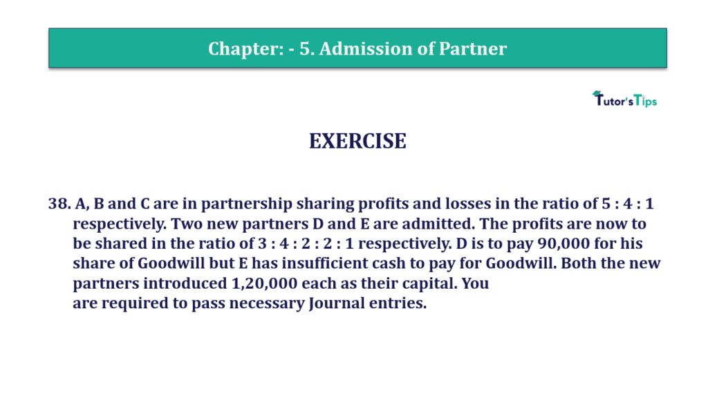 Question 38 Chapter 5of +2-A