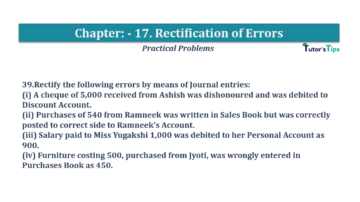 Question No.39 Chapter No.17 T.S. Grewal 1 Book 2019 Solution min min 360x202 - Chapter No. 17 - Rectification of Errors- Solution