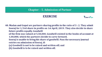 Question No.40 Chapter No.5 T.S. Grewal 2 Book 2019 Solution min min 1 360x202 - Chapter No. 5 - Admission of a Partner - Solution - Class 12