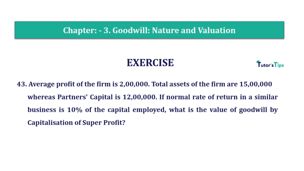 Question 43 Chapter 3 of +2-A