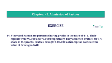 Question No.44 Chapter No.5 T.S. Grewal 2 Book 2019 Solution min min 360x202 - Chapter No. 5 - Admission of a Partner - Solution - Class 12