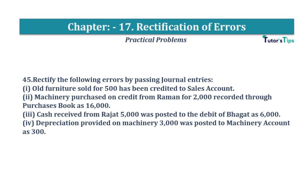 Question No 45 Chapter No 17