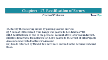 Question No.46 Chapter No.17 T.S. Grewal 1 Book 2019 Solution min min 360x202 - Chapter No. 17 - Rectification of Errors- Solution