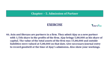 Question No.46 Chapter No.5 T.S. Grewal 2 Book 2019 Solution min min 360x202 - Chapter No. 5 - Admission of a Partner - Solution - Class 12