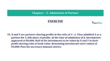 Question No.55 Chapter No.5 T.S. Grewal 2 Book 2019 Solution min min 360x202 - Chapter No. 5 - Admission of a Partner - Solution - Class 12