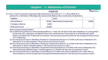 Question No.61 Chapter No.5 T.S. Grewal 2 Book 2019 Solution min min 360x202 - Chapter No. 5 - Admission of a Partner - Solution - Class 12