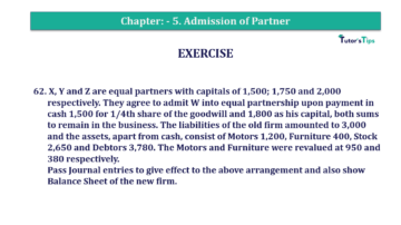 Question No.62 Chapter No.5 T.S. Grewal 2 Book 2019 Solution min min 360x202 - Chapter No. 5 - Admission of a Partner - Solution - Class 12