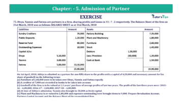 Question No.75 Chapter No.5 T.S. Grewal 2 Book 2019 Solution min min 360x202 - Chapter No. 5 - Admission of a Partner - Solution - Class 12