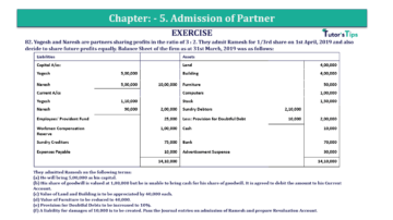 Question No.82 Chapter No.5 T.S. Grewal 2 Book 2019 Solution min min 360x202 - Chapter No. 5 - Admission of a Partner - Solution - Class 12