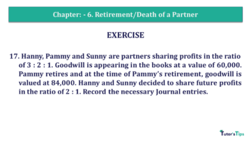 Q 17 CH 6 T.S. Grewal 2 Book 2019 Solution min 360x203 - Chapter No. 6 - Retirement/Death of a Partner - Solution - Class 12