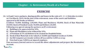 Q 24 CH 6 T.S. Grewal 2 Book 2019 Solution min 360x203 - Chapter No. 6 - Retirement/Death of a Partner - Solution - Class 12