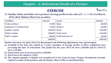 Q 31 CH 6 T.S. Grewal 2 Book 2019 Solution min 360x203 - Chapter No. 6 - Retirement/Death of a Partner - Solution - Class 12