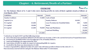 Q 32 CH 6 T.S. Grewal 2 Book 2019 Solution min 360x203 - Chapter No. 6 - Retirement/Death of a Partner - Solution - Class 12