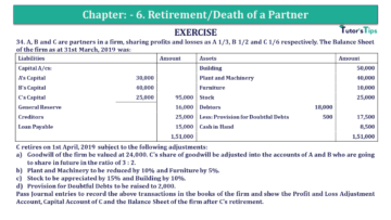 Q 34 CH 6 T.S. Grewal 2 Book 2019 Solution min 360x203 - Chapter No. 6 - Retirement/Death of a Partner - Solution - Class 12