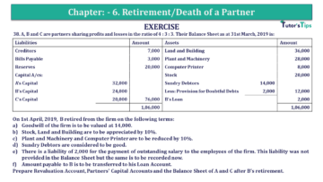 Q 38 CH 6 T.S. Grewal 2 Book 2019 Solution min 360x203 - Chapter No. 6 - Retirement/Death of a Partner - Solution - Class 12