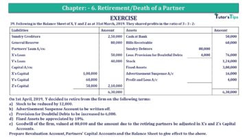Q 39 CH 6 T.S. Grewal 2 Book 2019 Solution min 360x203 - Chapter No. 6 - Retirement/Death of a Partner - Solution - Class 12