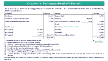 Q 40 CH 6 T.S. Grewal 2 Book 2019 Solution min 360x203 - Chapter No. 6 - Retirement/Death of a Partner - Solution - Class 12