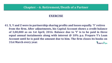 Q 41 CH 6 T.S. Grewal 2 Book 2019 Solution min 360x203 - Chapter No. 6 - Retirement/Death of a Partner - Solution - Class 12