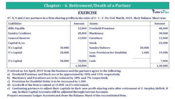 Q 47 CH 6 T.S. Grewal 2 Book 2019 Solution min 360x203 - Chapter No. 6 - Retirement/Death of a Partner - Solution - Class 12