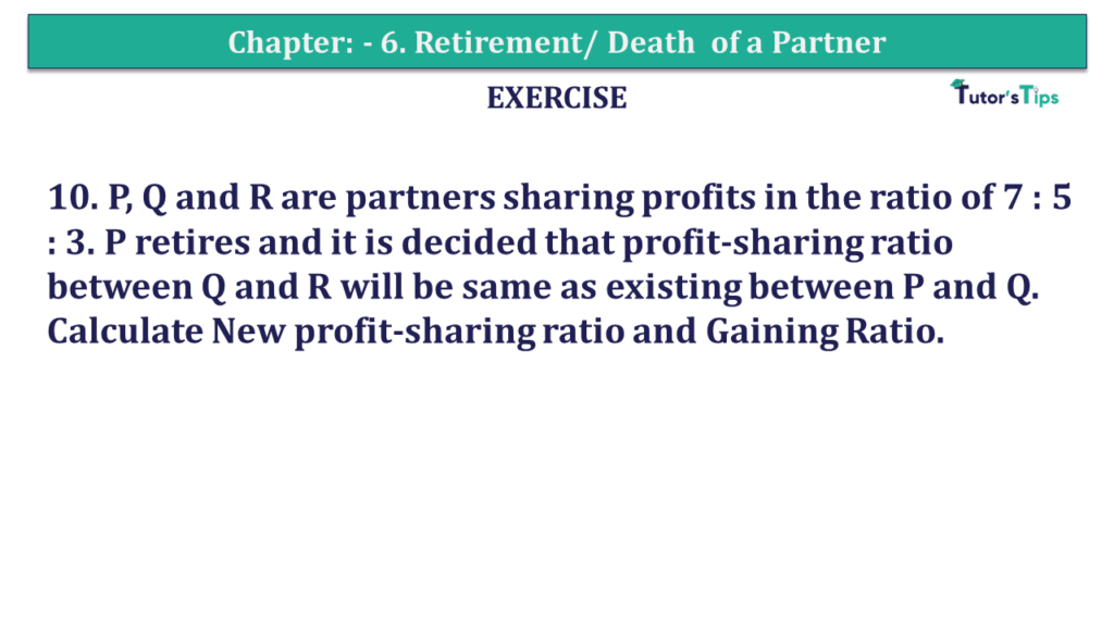 Question 10 Chapter 6of +2-A