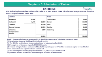 Question No.100 Chapter No.5 T.S. Grewal 2 Book 2019 Solution min min 360x202 - Chapter No. 5 - Admission of a Partner - Solution - Class 12