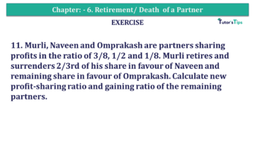 Question No.11 Chapter No.6 T.S. Grewal 2 Book 2019 Solution min min 360x203 - Chapter No. 6 - Retirement/Death of a Partner - Solution - Class 12