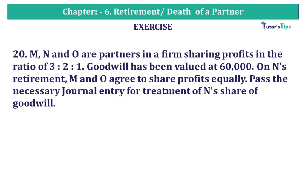 Question 20 Chapter 6of +2-A