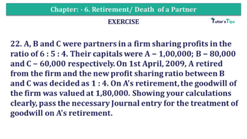 Question No.22 Chapter No.6 T.S. Grewal 2 Book 2019 Solution min min 360x203 - Chapter No. 6 - Retirement/Death of a Partner - Solution - Class 12