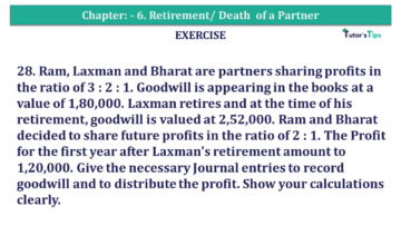 Question No.28 Chapter No.6 T.S. Grewal 2 Book 2019 Solution min min 360x203 - Chapter No. 6 - Retirement/Death of a Partner - Solution - Class 12