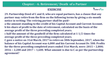 Question No.29 Chapter No.6 T.S. Grewal 2 Book 2019 Solution min min 360x203 - Chapter No. 6 - Retirement/Death of a Partner - Solution - Class 12