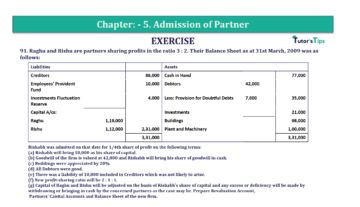 Question No.91 Chapter No.5 T.S. Grewal 2 Book 2019 Solution min min 360x207 - Chapter No. 5 - Admission of a Partner - Solution - Class 12
